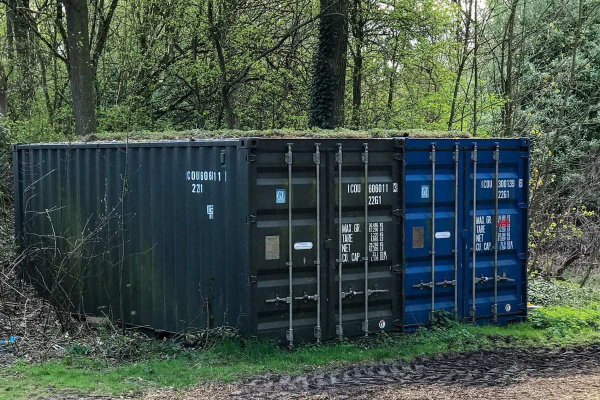 An diese Container kommen die Mitglieder des Heimatvereins Klein Borstel nicht mehr.